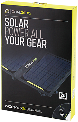 Solar panel Goal Zero Nomad 20. What's in the box