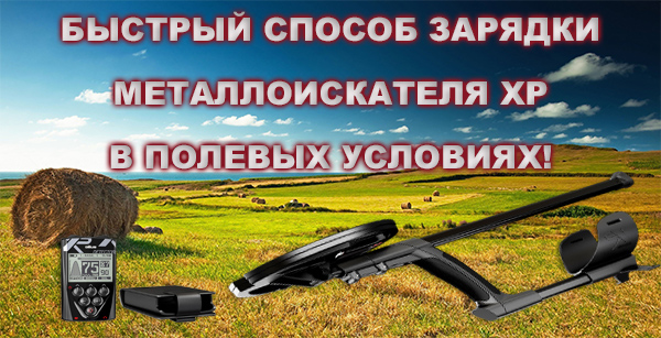 Fast charge XP metal detector