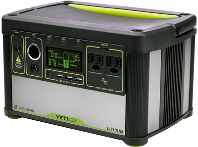 Power supply Goal Zero Yeti 400 Lithium. What is in the box